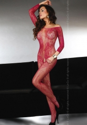 Bodystocking Livco Corsetti Fashion Abra Maroon LC 17086