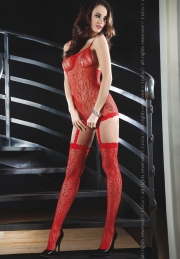 Bodystocking Livco Corsetti Fashion Catriona Red LC 17093