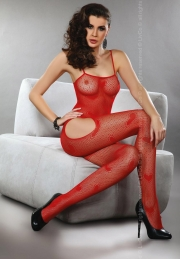 Bodystocking Livco Corsetti Fashion Titania Red LC 17106