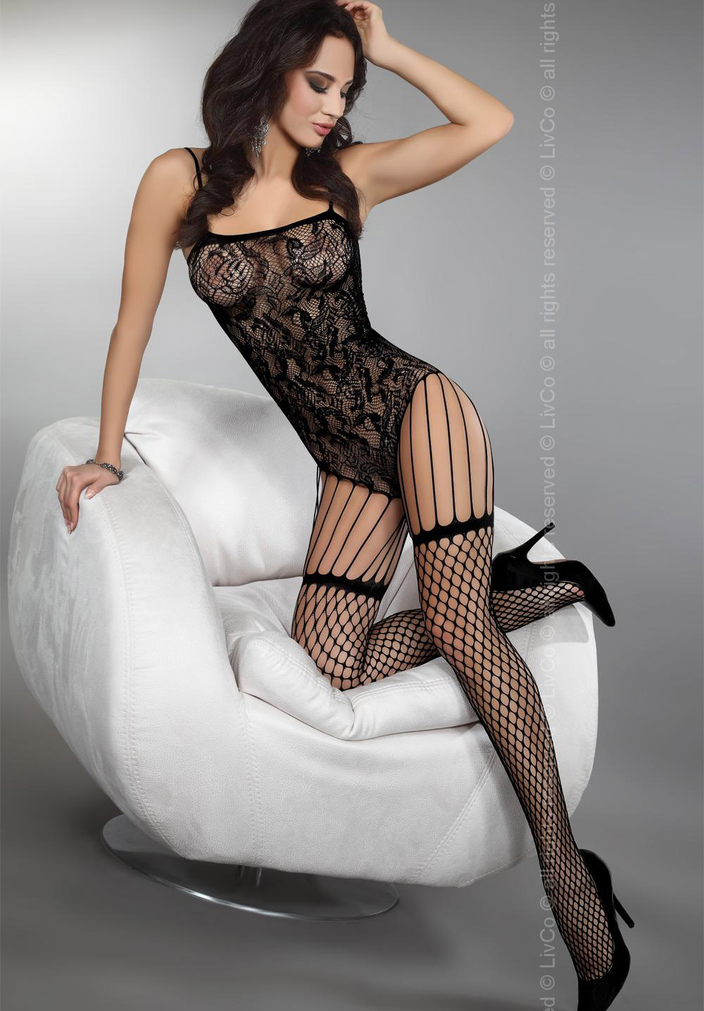 Livco Corsetti Fashion - Bodystocking - Saffron LC 17208