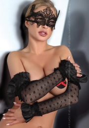 Mask Livco Corsetti Fashion Mask Black Model 2 LC 13002